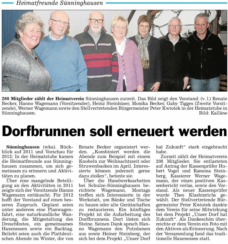 Dorfbrunnen soll erneuert werden