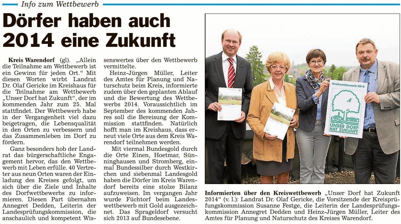 """Landeswettbewerb """"Unser Dorf hat Zukunft"""""""