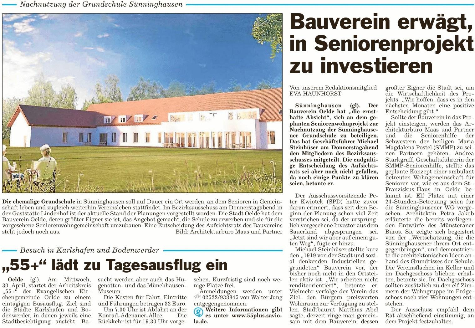 Nachnutzung Grundschule Sünninghausen